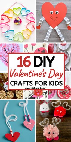 16 Valentines Day crafts for kids that look really adorable! These Valentines Day crafts for kids will be loved by all your children! 16 Valentines Day crafts for kids that are super adorable! These Valentines crafts are perfect for children! Fun Valentines Day Ideas, Valentine Crafts For Kids, Valentines Day Activities, Valentines Diy, Craft Activities, Holiday Crafts, Valentine Cards, Funny Valentine, Roses Valentine