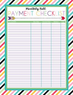 Free Printable Monthly Budget Worksheet | Monthly budget, Budgeting ...