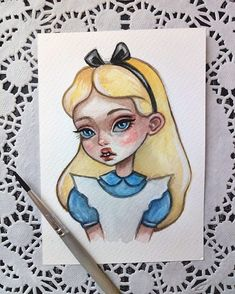 34 Ideas For Disney Art Drawings Sketchbooks Character Sketches Beautiful Drawings, Cute Drawings, Drawing Sketches, Watercolor Postcard, Watercolor Art, Watercolor Paintings Tumblr, Postcard Art, Arte Disney, Disney Art