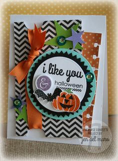 Reverse Confetti | I Like You, Spooky Cuties, Spooky Sentiments | Halloween Card
