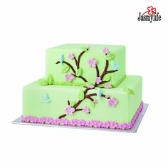 Moldes De Silicona Cocina Fondant 3D Mold Tree with Leaf Flowers Birds Shaped…