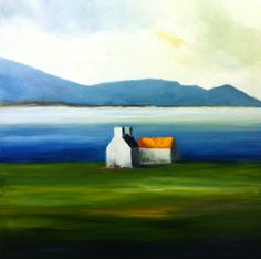 """A Quiet Day, Achill"" - Oil on Canvas, 80x80cms  By Padraig McCaul  www.padraigmccaul.com"