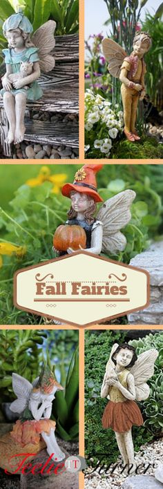Fall Fairy Trends 2015 Fun Fairies for Fall...See more: www.teelieturner.com  Prepare yourselves because here are the best fairies ready to be in your garden this fall. #fallfairies