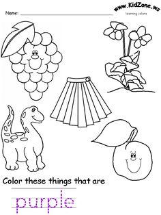 Recursos de Inglés para niños. Pinta cada figura, con el