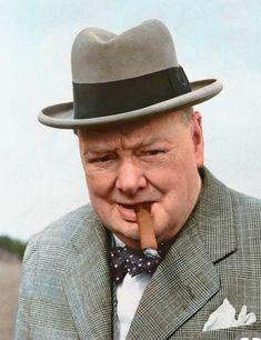 Winston Churchill color photos of World War II worldwartwo.filminspector.com