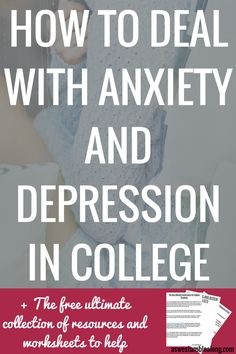 In this post learn how to thrive (not just survive) with depression and anxiety at college