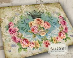 VICTORIANA No1  Large Printable Image Digital Collage by ArtCult, $4.99