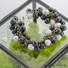 Beautiful bracelet made with black hematite and by MadeByMarchewka