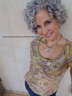 Cultivate Your Curls withThe MAP Method Online Course Curly Permed Hair, Grey Curly Hair, Short Grey Hair, Haircuts For Curly Hair, Hairstyles Over 50, Curled Hairstyles, Pretty Hairstyles, Short Hair Cuts, Short Hair Styles