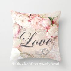 Hey, I found this really awesome Etsy listing at https://www.etsy.com/listing/180144650/love-pillow-case-cover-shabby-chic-roses