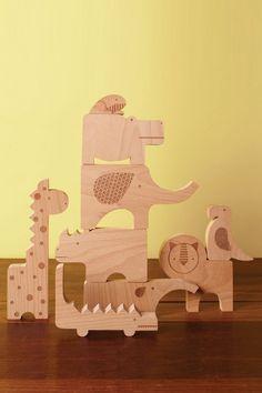 Holz Puzzle und Spielset Safari
