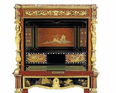 c1870-90 A FRENCH ORMOLU-MOUNTED JAPANESE LACQUER, MAHOGANY AND AMARANTH SECRETAIRE A ABATTANT BY EMMANUEL-ALFRED (DIT ALFRED II) BEURDELEY, PARIS, CIRCA 1870-1890, THE LACQUER PARTLY EDO-MEIJI PERIOD Price realised  GBP 30,000