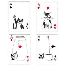 Image result for cat playing cards