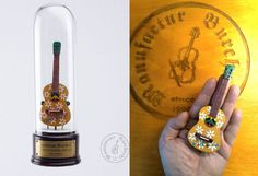 Handmade miniature instrument  Guitar of by ManufacturBurchardt
