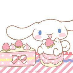 Cinnamoroll enjoying a sweet treat! What is his favorite treat? Sanrio Wallpaper, Kawaii Cute, Kawaii Anime, Kawaii Stuff, Kawaii Things, Sanrio Danshi, Hokusai, Pochacco, Baby Friends