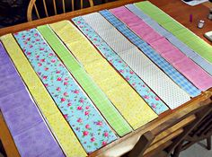 Rag strip quilt