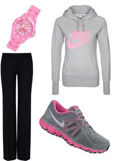 """Nike"" by jenarawaldner ❤ liked on Polyvore"