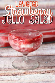 Layered Strawberry Jello Salad from Food Fun Family - an old family recipe with strawberries, bananas, and pineapple...and a surprising ingredient!