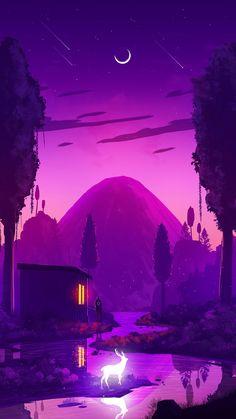 The magical lake house Mobile Wallpaper   Fantasy Image