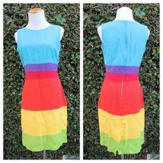 another rainbow dress