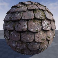 Texture of roofing in Unreal Engine 4.9, Crazy Textures on ArtStation at https://www.artstation.com/artwork/xd6xR