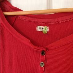 ☀️Vintage Old Navy Burnt Orange Henley Perfect burnt orange color for fall. Worn lots but in great condition. Super soft worn-in fabric. All buttons securely attached. Great shirt! Old Navy Tops