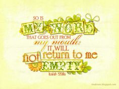 Isaiah 55:11