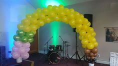 Pencil balloon  arch I helped make for a back to school service
