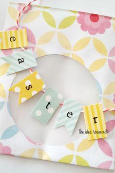 Easter printable cookie bag | theidearoom.net