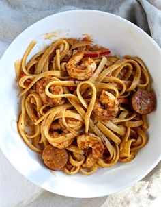 Creamy Cajun Shrimp Pasta with Sausage