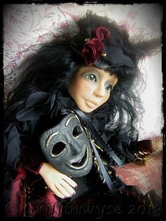 Gothic Art Doll by Kimberly Kingsley at Griffinwyse. www.griffinwyse.com