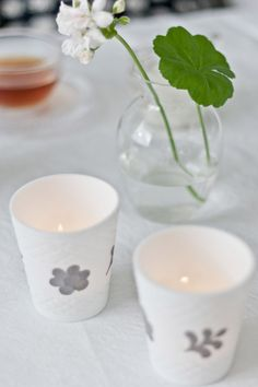 Candlelight Opal Flower Grey from Tine K Home Opal, Candle Holders, Candles, Grey, Flowers, Blog, Home, Gray, Ad Home