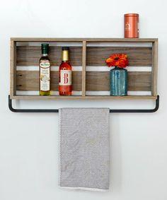 af8729864a76 Barnwood Towel Rack  zulilyfinds Zen Home Decor