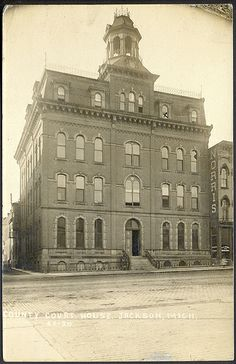All sizes | Jackson MI Grand Old County Court House Card CS Stone Bakrey and Norris Hotel K5-20 KARBO Card Used but Unsent | Flickr - Photo ...