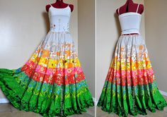 How Does Your Garden Grow  Long Bohemian Skirt by BarefootModiste, $135.00