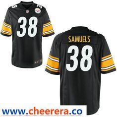 8a1c60296c4 Men's Pittsburgh Steelers #38 Jaylen Samuels Black Team Color Stitched NFL  Nike Game Jersey