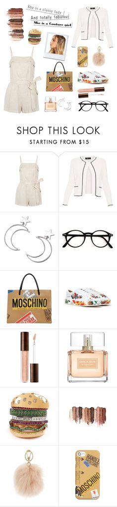 """""""Elegant style"""" by delia-dm ❤ liked on Polyvore featuring Alice + Olivia, Paule Ka, Ana Accessories, Moschino, Nasty Gal, Givenchy, tarte, Furla and LULUS"""