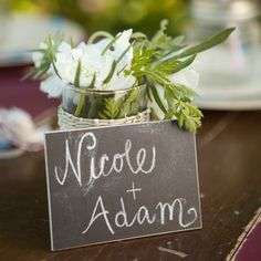 """I can imagine mini chalkboards as the placecards & as a favor for a wedding. Leave a piece of chalk at each place setting. To make it a little more classy, you could wrap a """"handle"""" around a full piece of chalk with a pretty piece of scrapbook paper."""
