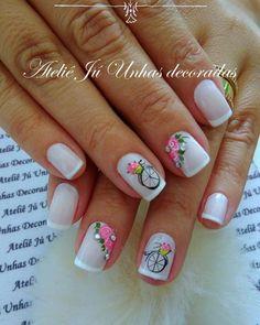 Aprenda passo a passo, como fazer unhas perfeitas e como ter sua agenda lotada o ano todo! Ou chama no WhatsApp Nail Art Designs Videos, Cute Nail Art Designs, Rose Nails, Flower Nails, The Art Of Nails, My Nails, Toe Nail Art, Acrylic Nails, Cute Summer Nails