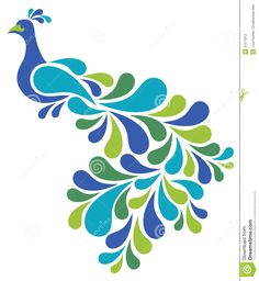 Illustration about Vector illustration of a retro-style bird. Illustration of color, swirl, peacock - 31271012 Peacock Drawing, Peacock Wall Art, Peacock Fabric, Peacock Painting, Fabric Painting, Diy Painting, Painting Abstract, Glass Painting Designs, Paint Designs