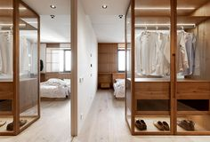 Rina Lovko brings Japanese minimalism to the typical apartment block in Kiev, Ukraine. Architect presents a new project 'Nochka' – an apartment of 78 square Minimalist Apartment, Minimalist Decor, Modern Minimalist, Apartment Plans, Apartment Design, Living Room Zones, Japanese Apartment, Japan Interior, Japanese Minimalism