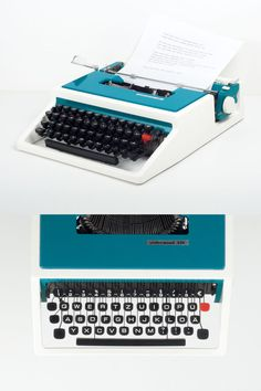Vintage Olivetti Dora / 315, Underwood Schreibmaschine, 70er Jahre, sehr gutem Zustand arbeiten