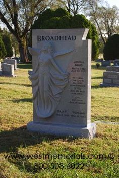 awesome unique angel headstone