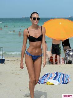 Victoria's Secret model Candice Swanepoel continues bikini-clad vacation in Miami
