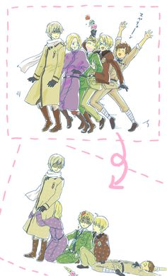 Hetalia Allies (+Spain)... FRANCE WHAT ARE YOU DOING? xD