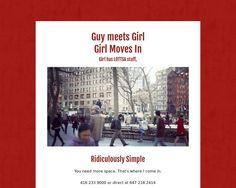 Guy meets Girl Girl Moves In   Girl has lottsa stuff