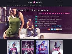 The edgy Urban Label is a great looking #ecommerce #website. With great features like e-newsletter subscription, PayPal integration and #socialmedia functionality, your online store stand out from the rest.