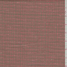 Salmon and taupe plaid. This soft, light/medium weight linen fabric has slubs. $9/yd Compare to $30.00/yd