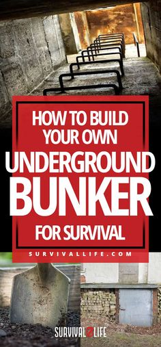 Do you want to know how to build an apocalyptic fallout shelter? Well, I got you covered! Check out the steps in building your own underground bunker. Survival Life, Survival Food, Wilderness Survival, Camping Survival, Outdoor Survival, Survival Prepping, Survival Skills, Survival Quotes, Emergency Preparedness