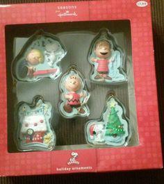 Hallmark Peanuts Holiday Ornaments set of 5 in Collectibles   eBay